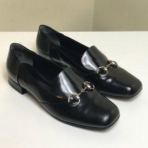Gucci Women's 7.5 37.5 Horsebit Loafer Pump Black